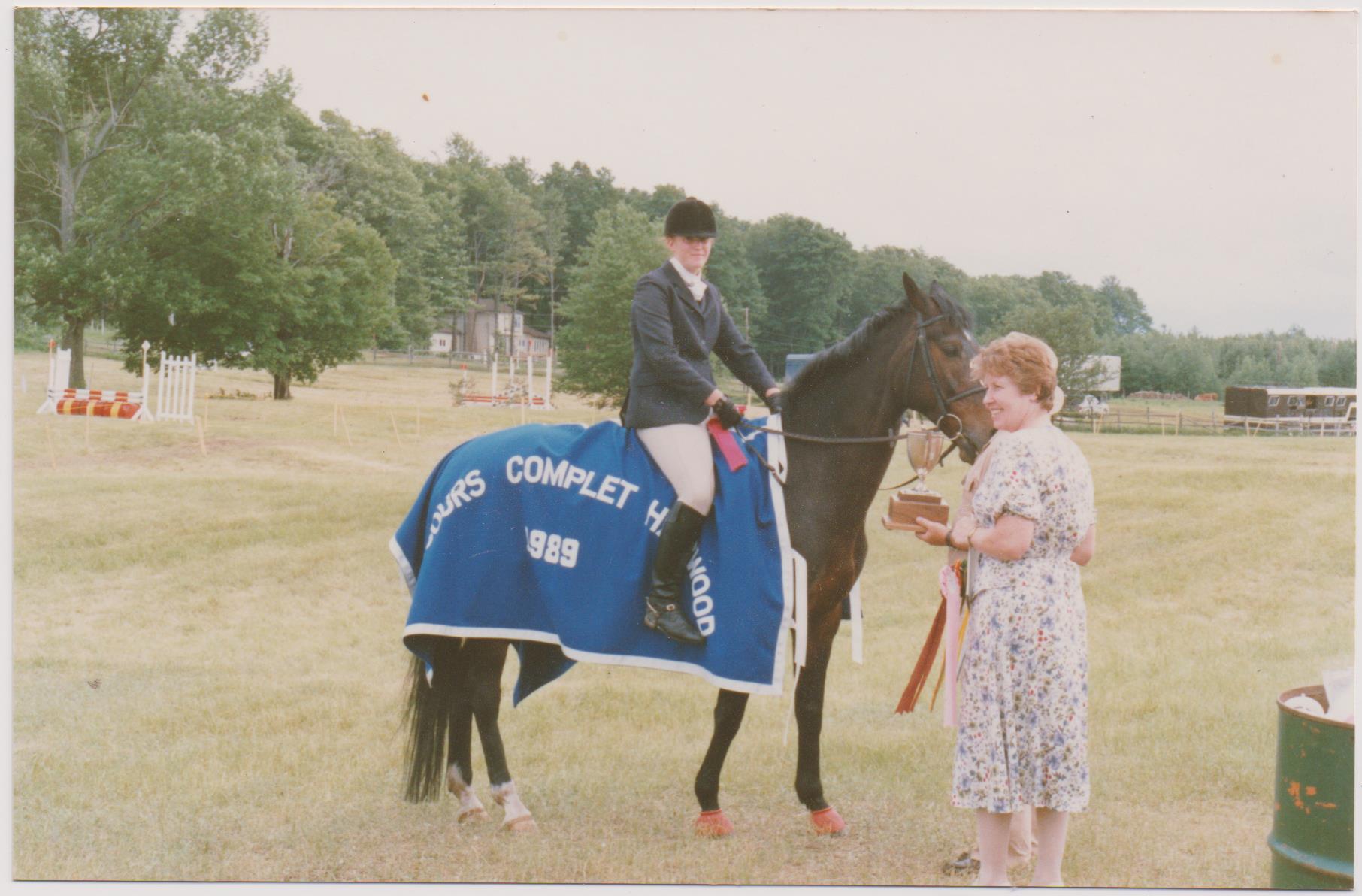 Ruth Allum riding Debonair (Marty) at Harmony Horse Trials 1989