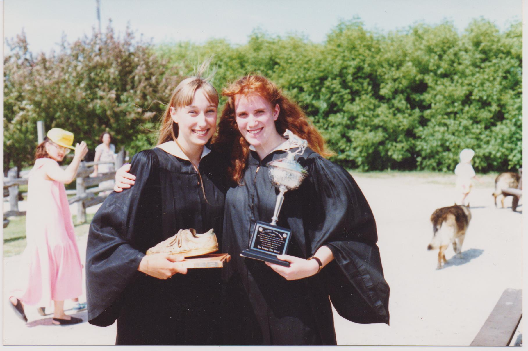 Ruth Allum and Erin Gorski-Howcroft at their High School Graduation - Ruth had been absent from school for several months with Mononeucleosis - still pretty pale in this pic but their friendship is still strong today!