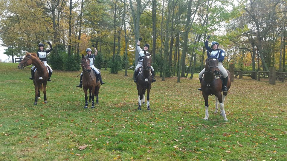 The Novice Team - The Eh! Team after 4 perfect Cross Country rides. Champions!