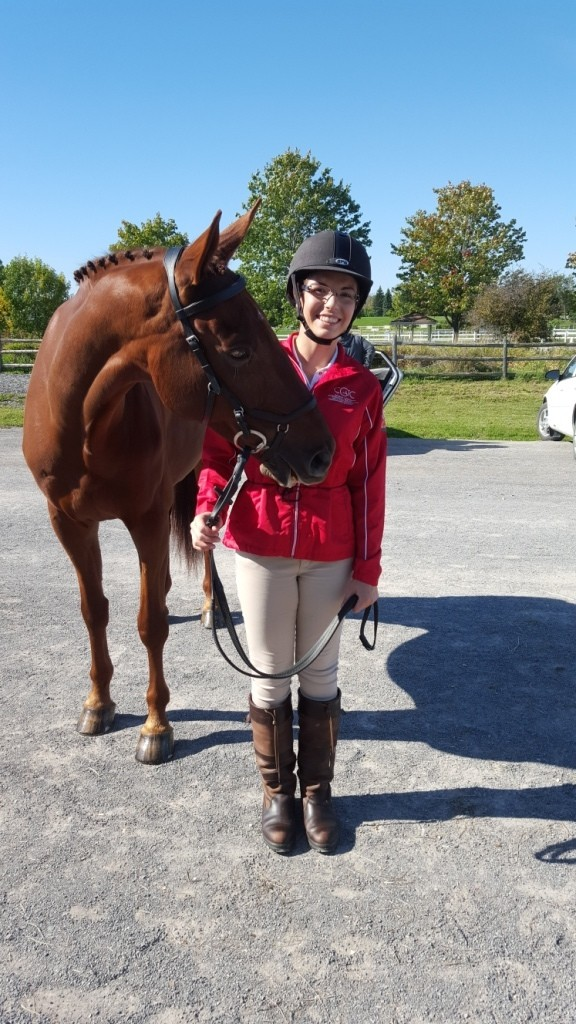 Jenna Mayhew and Kinsale (Kip) ready for their first Horse Inspection!