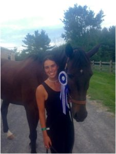 Miranda Lepore & The Duke - celebrating Duke's 2nd place finish in the Pre-Training Senior/Open division!