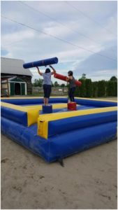 Megan and Nancy Jenner - It's a bouncy joust battle!