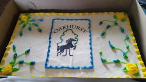 The fantastic Oakhurst cake Todd & Sandy Brown generously had made for our volunteer and competitor's party - sorry, there is none left!