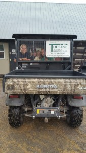 The Oakhurst Kids - Zoe & Emma Richardson, Tatum Nelson and Marshall & Emmett Eldridge taking a ride in one of the sponsored RTV's.