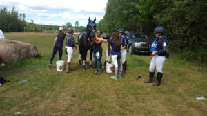 Team Oakhurst coolout crew at Harmony Horse Trials