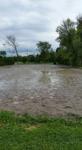 One of Oakhurst's Dressage rings after all of the rain last week!