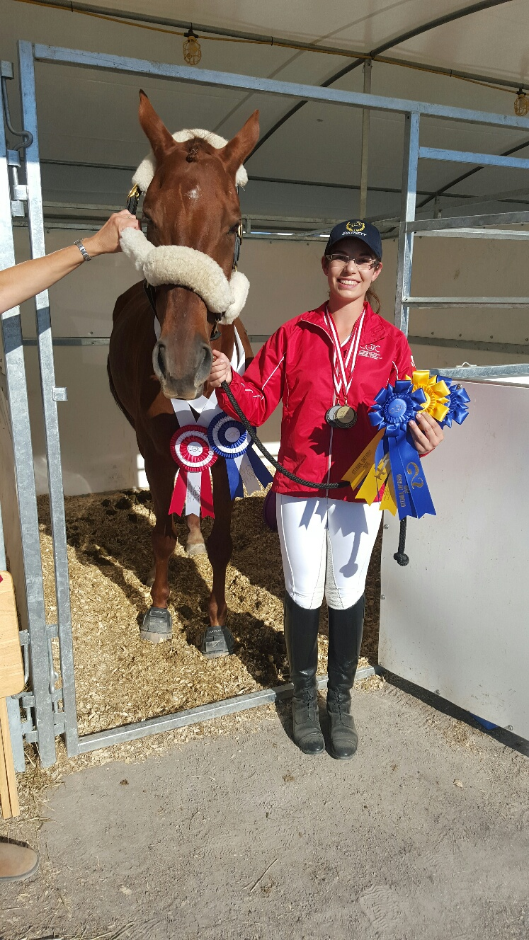Jenna Mayhew & Kinsale - Individual Silver and Team Gold Medallists at CIEC's 2015