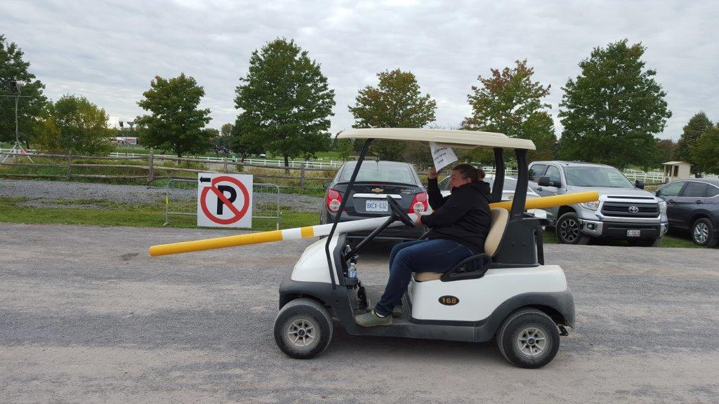 Golf Cart Jousting at CIEC's - It's a thing....