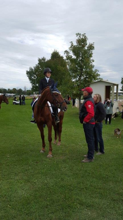 Debrief for Jenna Mayhew and Kinsale after their first Dressage Test.