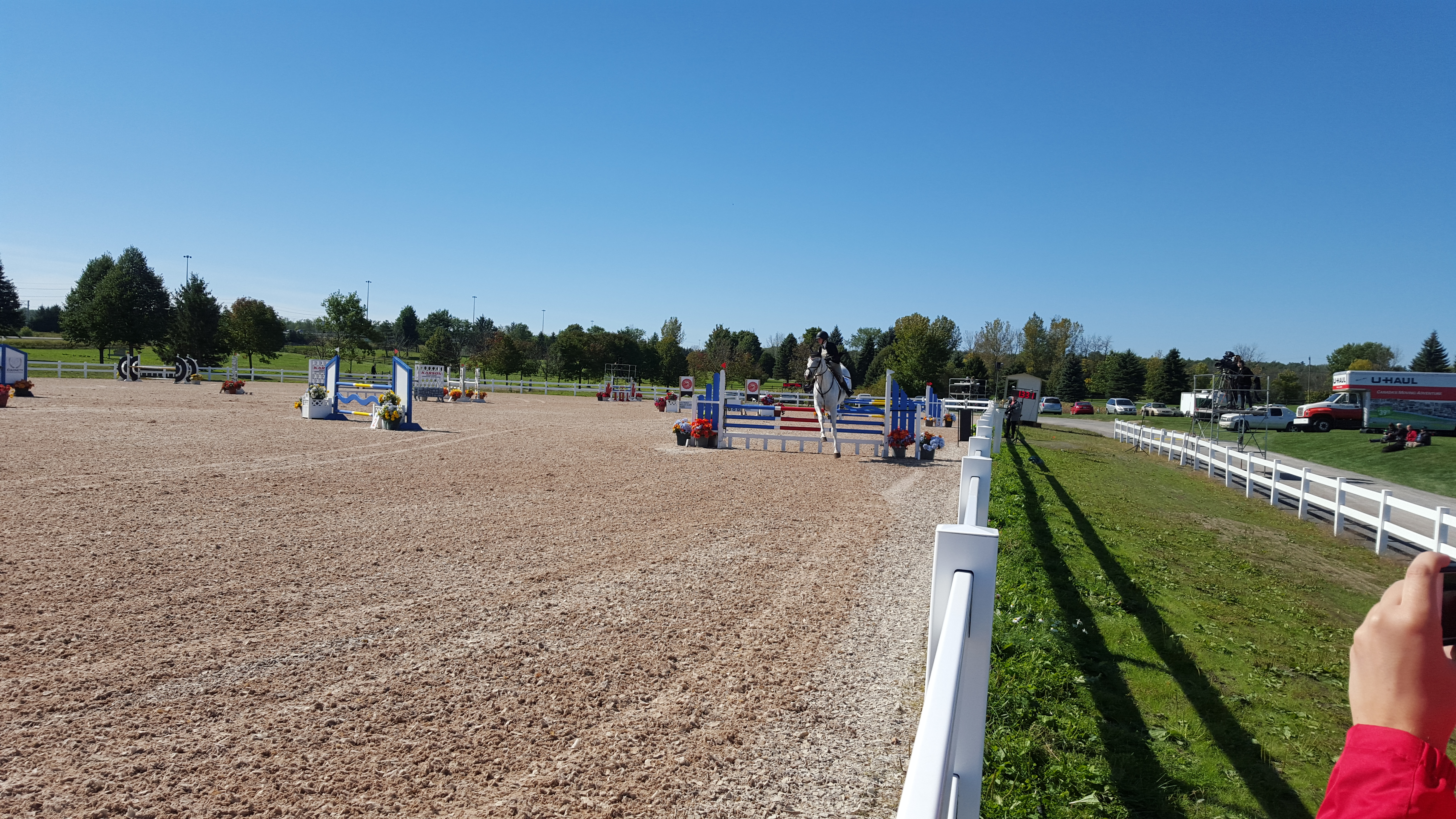 Team Ontario tearing up the showjumping ring in the speed class today.