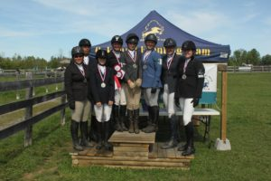 The Entry Junior, Senior and Open Champions - Group pic on the podium!