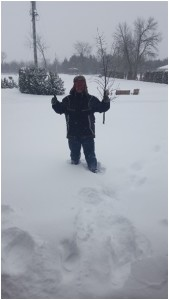 Some of us, like Eric,  enjoy the snow - even when we get 50 cm of new snow!