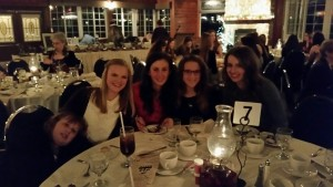 Dinner at the NCHTA Annual Awards Banquet - looking fancy ladies!