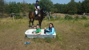 """Oh, Alexa Bresnahan & Grace Grandinetti, you really float my boat!"" says Kenzi-Greer Mitchell & Top Gun at Touch a Rainbow Horse Trials"