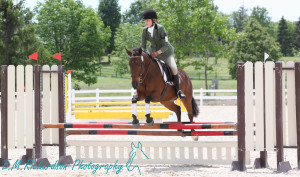 Nadia Miller & Nike competing in the Entry division. Photo by: E.M.Richardson