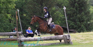 Leona Noble & Little Miss Snuggle Monster on the Pre-Entry Cross Country. Photo by: E.M.Richardson