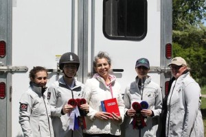 L to R: Megan Jenner, Jenna Mayhew, Elisa Mayhew, Kristin McLaren & Helen Richardson at Mountain Star Stable Silver Dressage Show, May 23, 2015 Photo by: Emma Richardson
