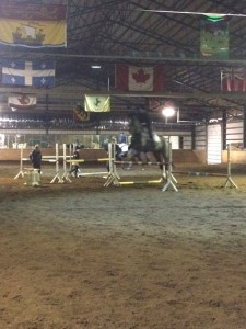 Emma Richardson and Sox working through the fun exercise in the arena this past week. The exercise worked on flying lead changes.
