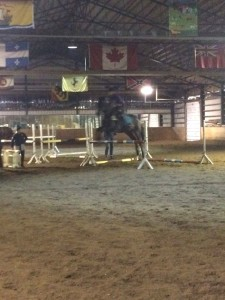 Kenzi and Ash working through the fun exercise in the arena this past week. The exercise worked on flying lead changes.