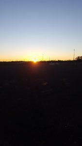 Sunrise as we pulled into Ottawa HT on Sunday morning!