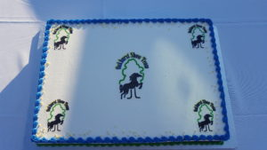 The amazing cake that was served at the competitors party at the OHTA Championships at Oakhurst!